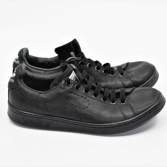 official photos 3fb9b a9e56 Adidas x Raf Simons Stan Smith Aged Core Black
